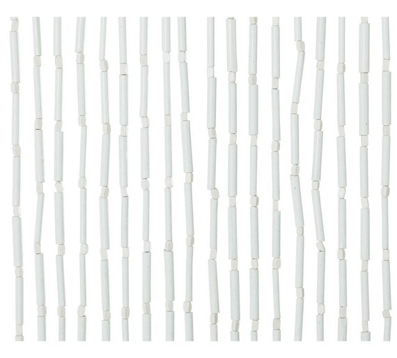 Buy HOME Beaded Door Curtain - White | Curtains | Argos