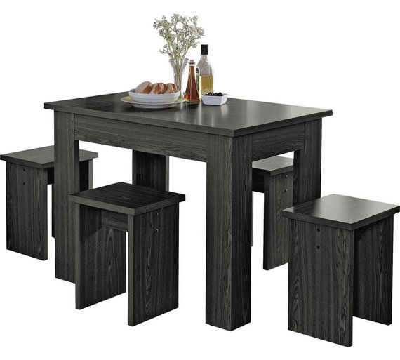 Buy HOME Legia Space Saver Dining Table And 4 Stools