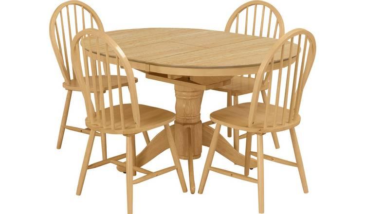 12c7fb45dd Argos Home Kentucky Extendable Wood Veneer Table & 4 Chairs603/5646
