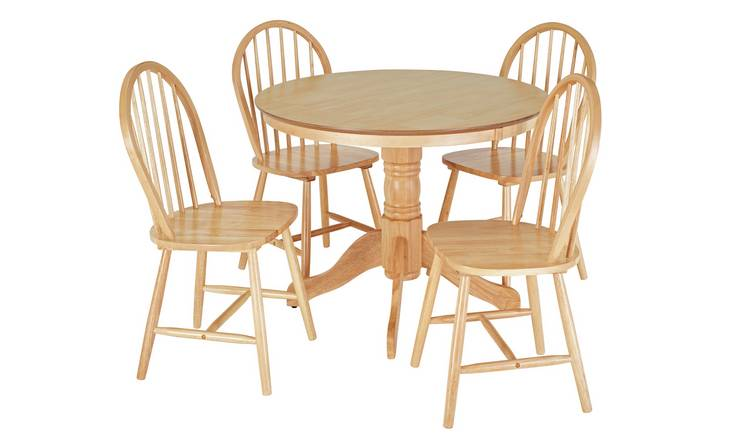 Buy Argos Home Kentucky Solid Wood Dining Table 4 Chairs Dining Table And Chair Sets Argos