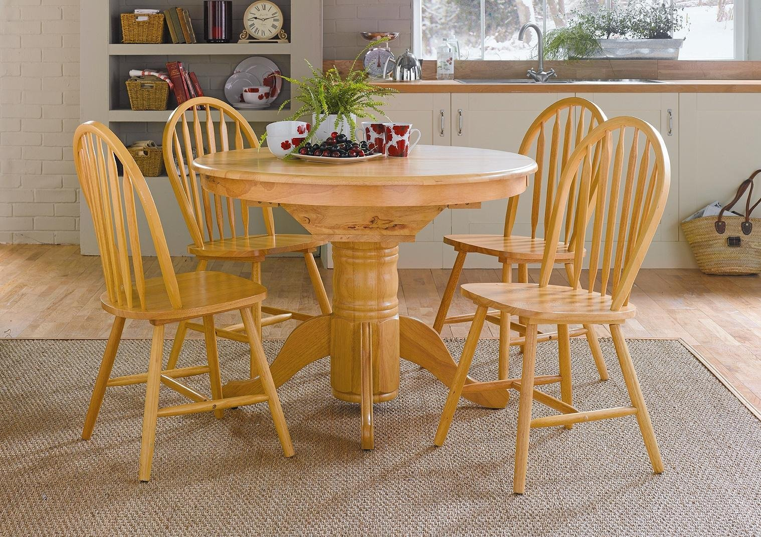Buy Collection Kentucky Solid Wood Table   Chairs - Natural at