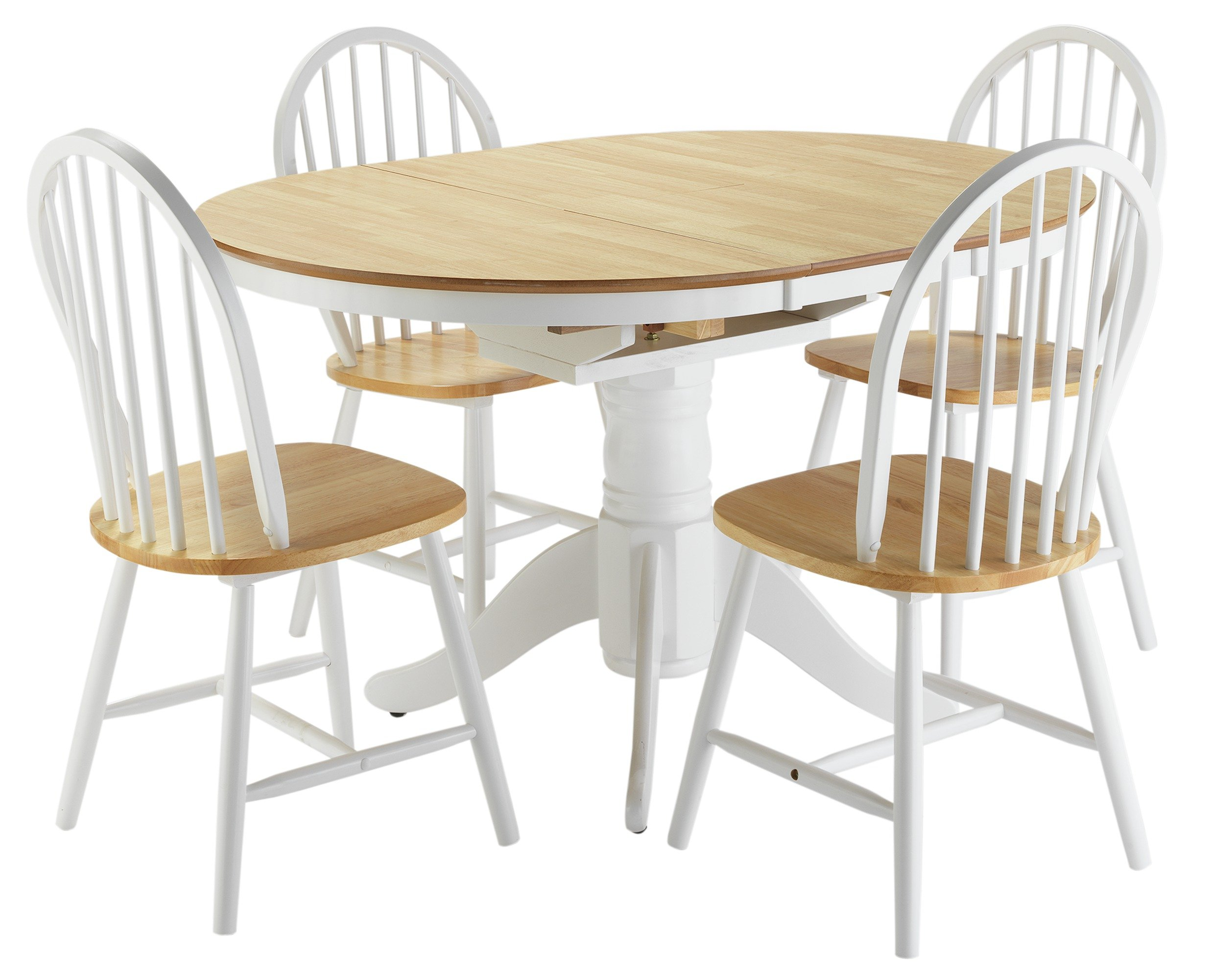 kentucky two tone fixed top dining table and 4 chairs. Black Bedroom Furniture Sets. Home Design Ideas