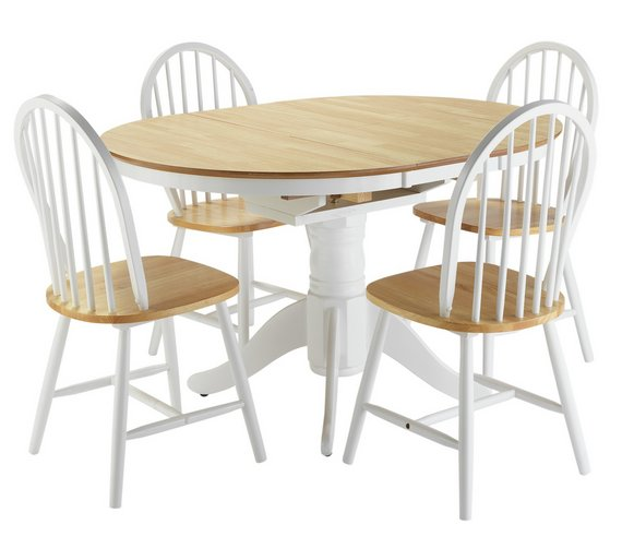 Argos Table And Chairs For 2: Buy Collection Kentucky Ext Dining Table And 4 Chairs -Two
