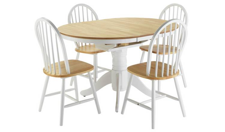 Argos Home Kentucky Ext Solid Wood Table 4 Chairs