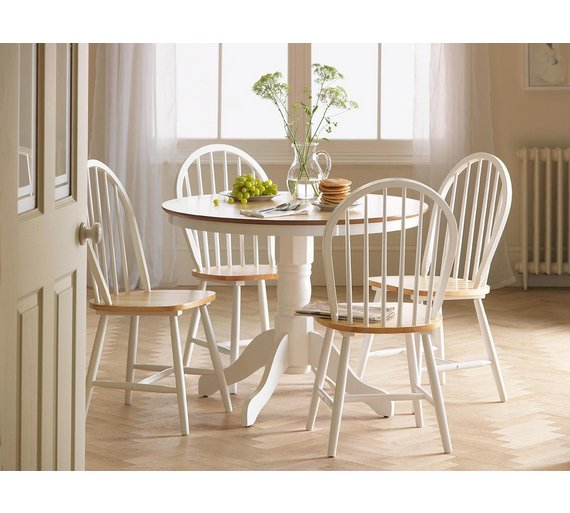 Buy Collection Kentucky Solid Wood Table 4 Chairs