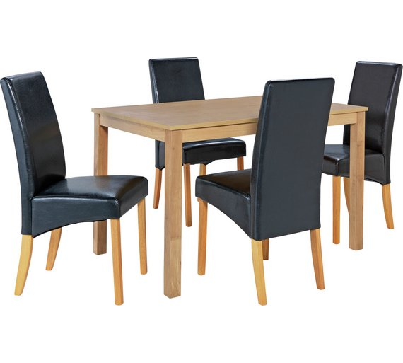 Buy Dining Table And Chairs Online: Buy HOME Bromham Dining Table And 4 Skirted Chairs