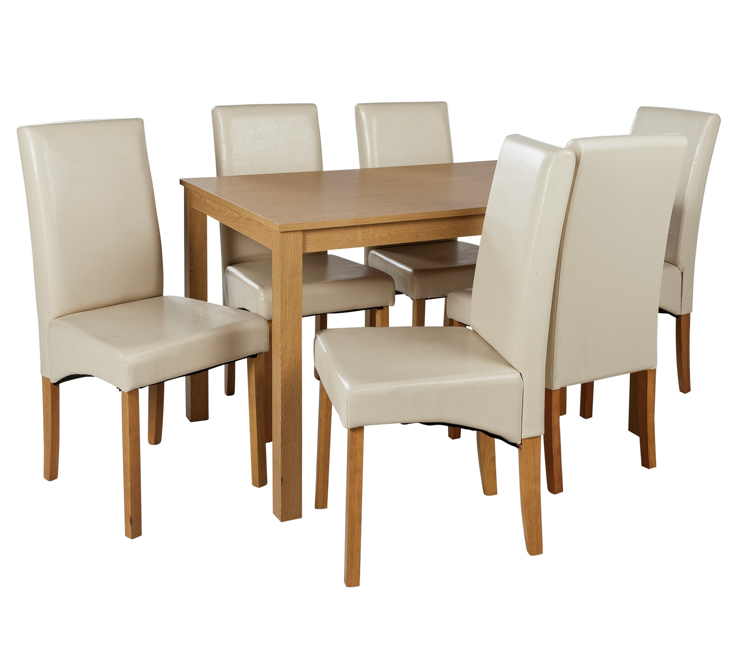 Home bromham oak effect dining table 6 chairs octer for 99 dining table
