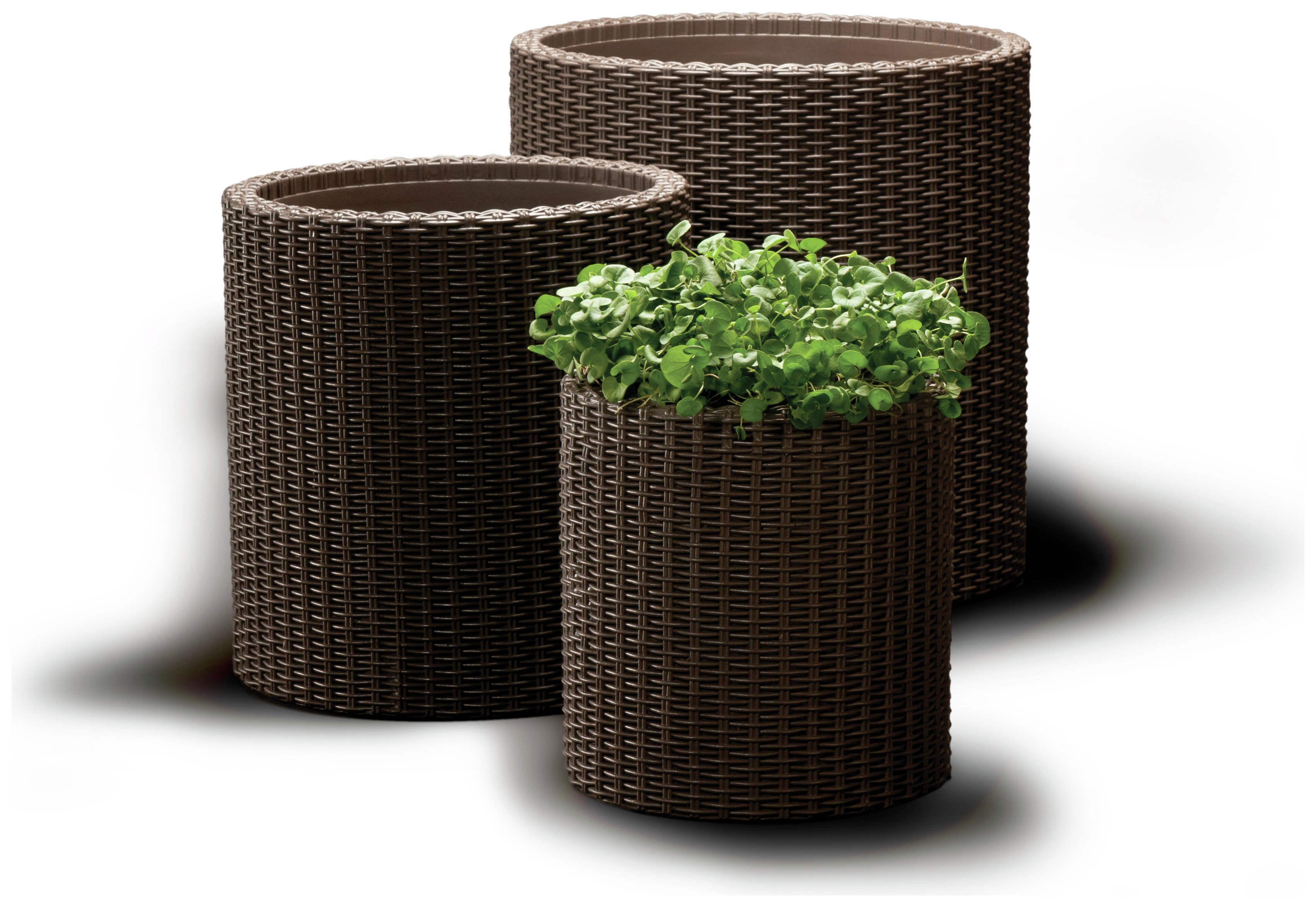 Image of Keter - Rattan Set Of 3 Planters