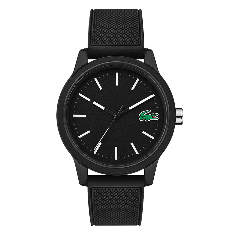 Lacoste 12.12 Men's Black Silicone Strap Watch