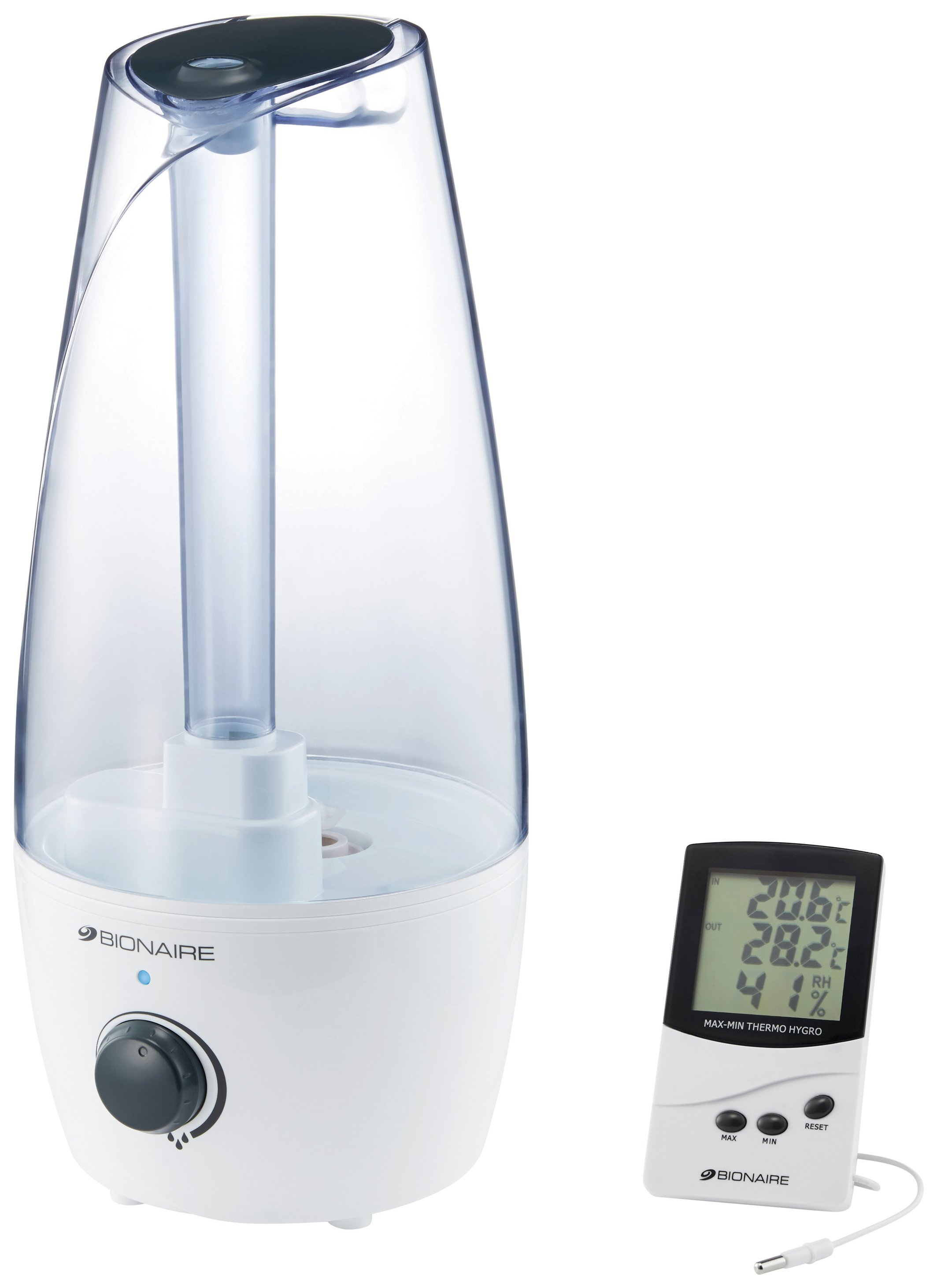Image of Bionaire BUH004 Ultrasonic Humidifier with Hygrometer