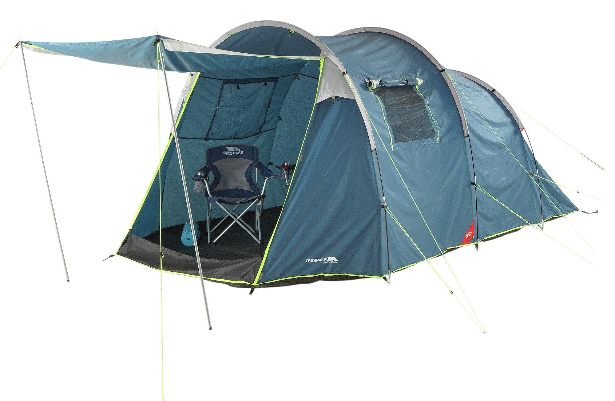 Trespass 4 Man Tent with Carpet lowest price