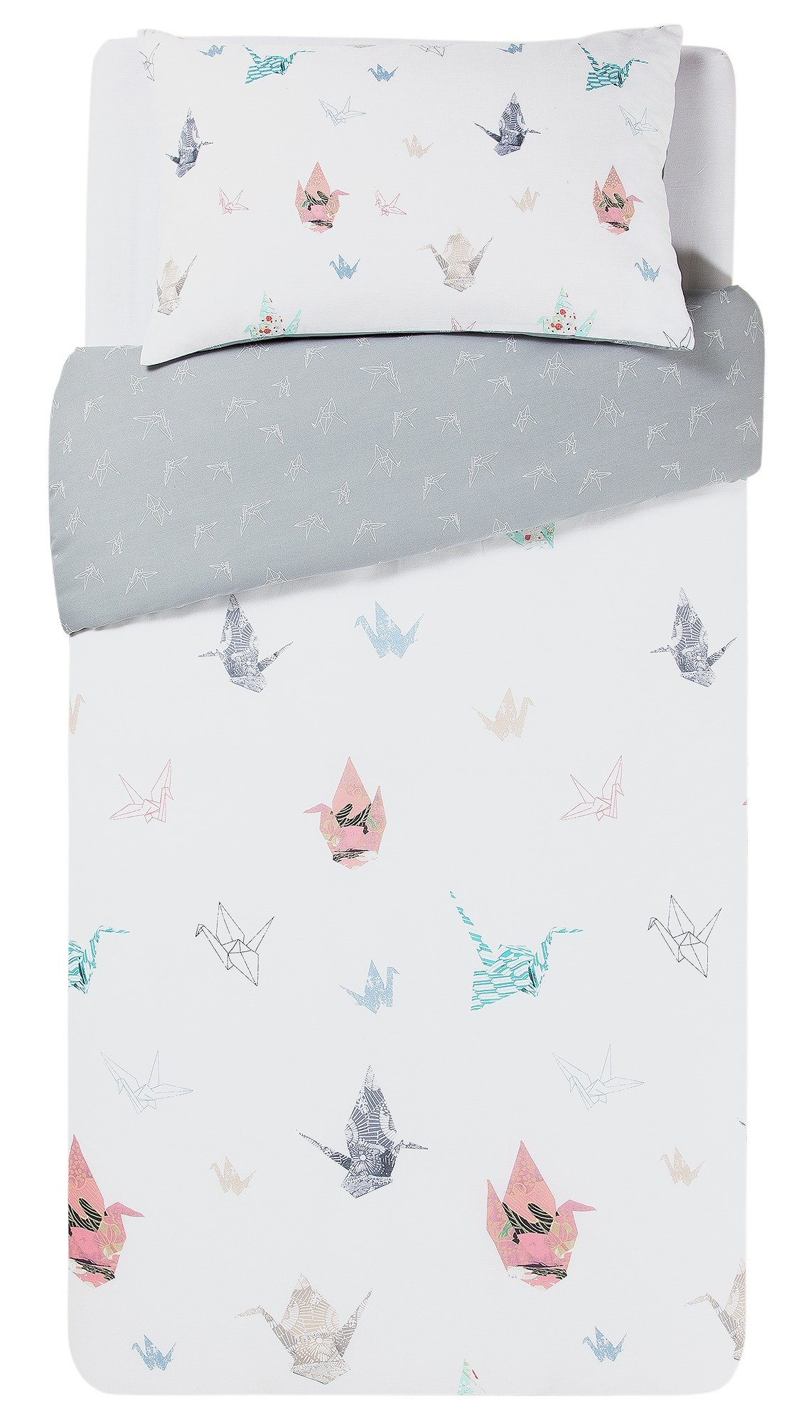 home paper cranes bedding set  single