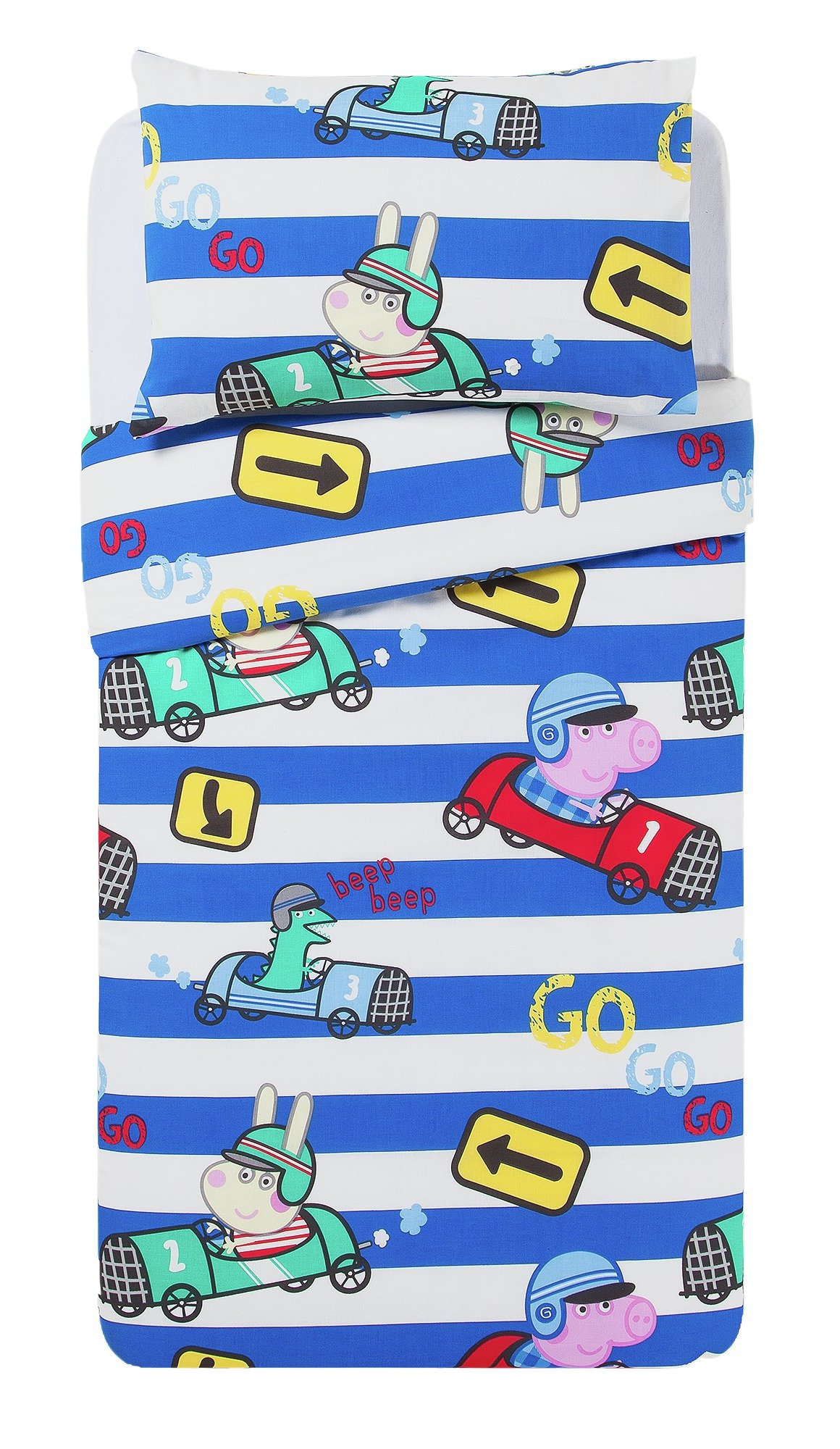 peppa pig  george speed  toddler  bed in a bag  set