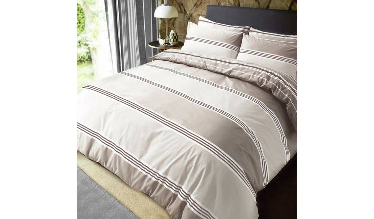 Pieridae Natural Banded Stripe Bedding Set - Double