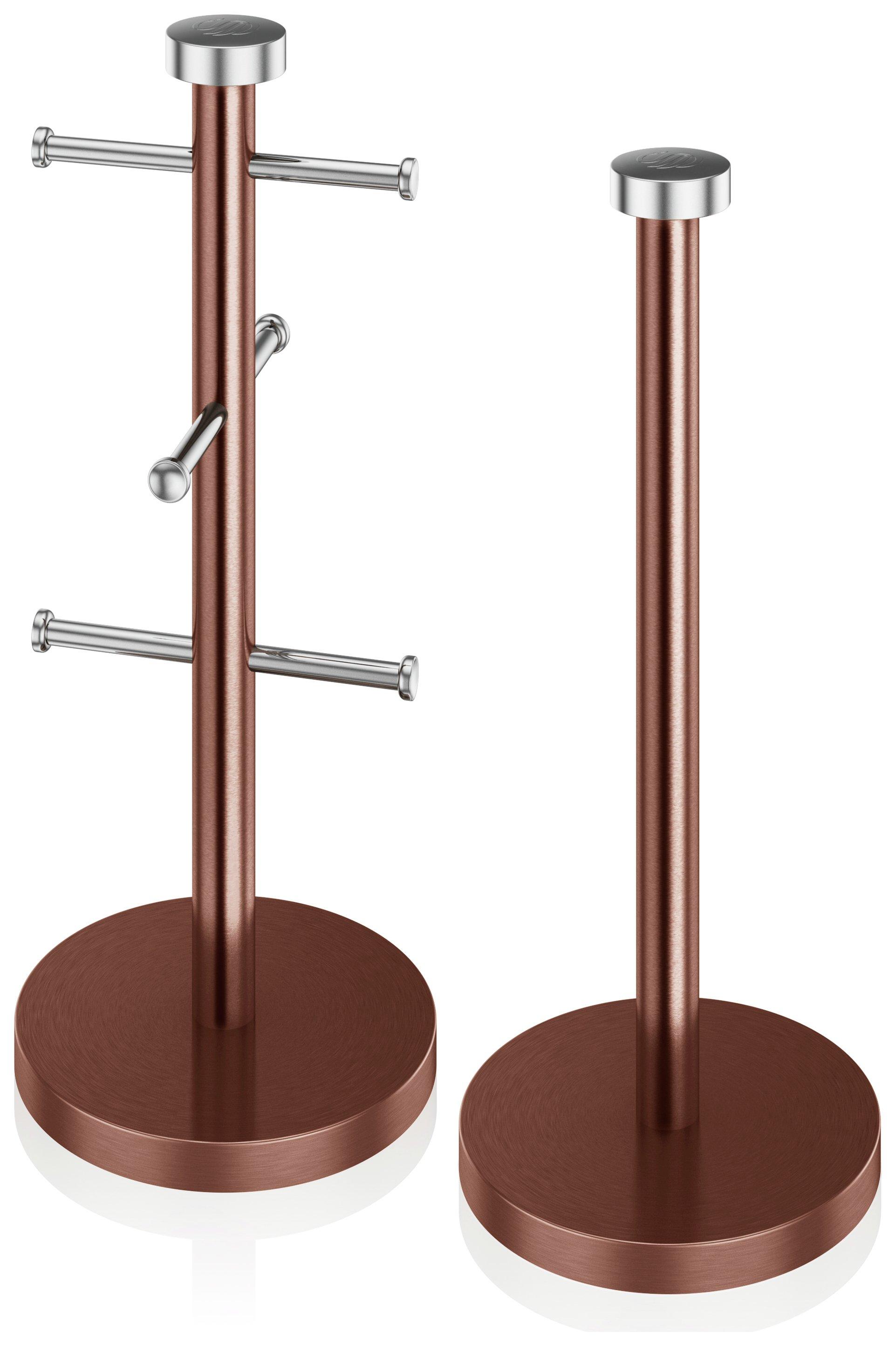 Swan - Towel Pole and Mug Tree - Copper