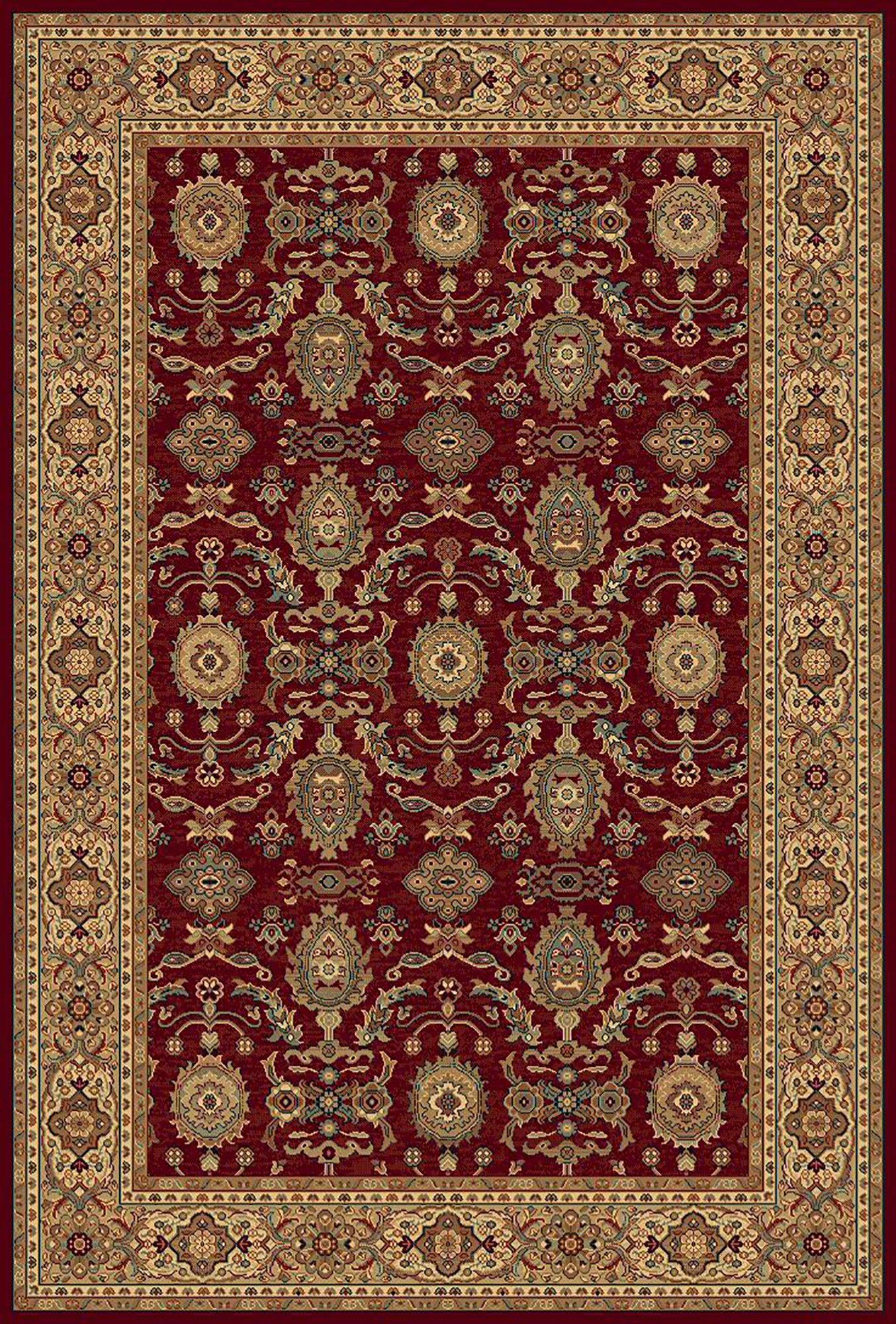 Image of Keshan Herati Rug - 70x140cm - Red.