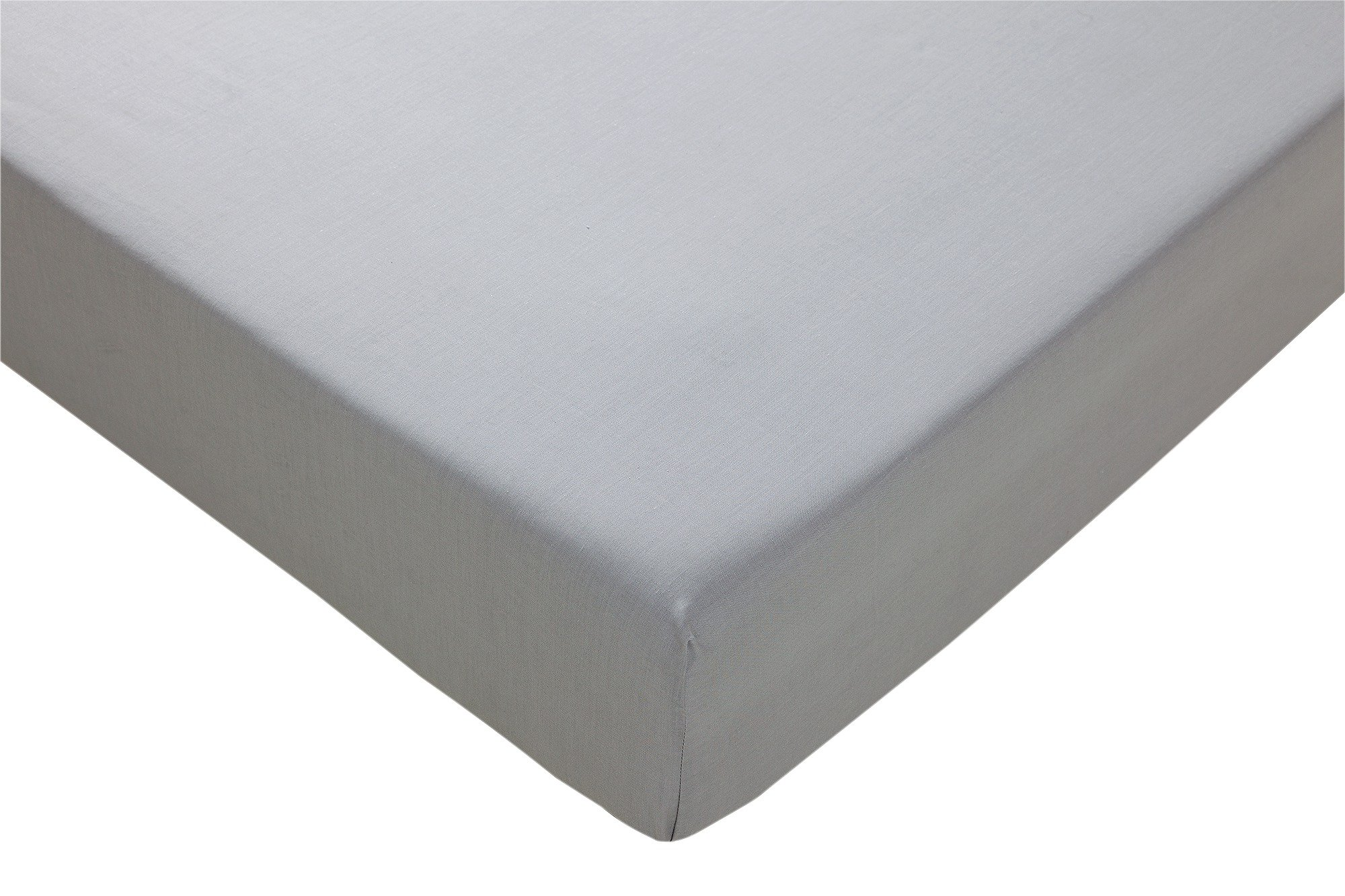 HOME Grey Fitted Sheet - Single