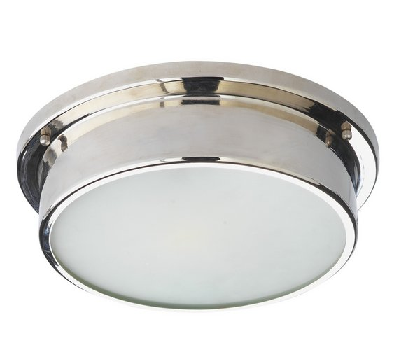 Buy Argos Home Aviemore Frosted Glass Bathroom Light Ceiling And - Kitchen light fixtures argos