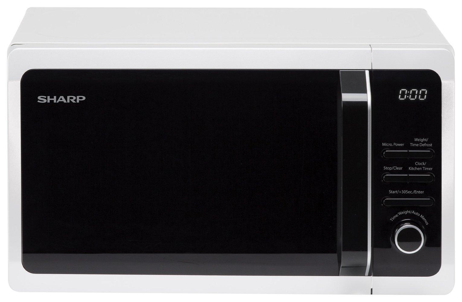 Sharp - R274WM 800W Microwave - White