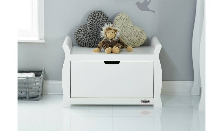 Buy Obaby Stamford Sleigh Toy Box White Kids Toy Boxes And Storage Argos