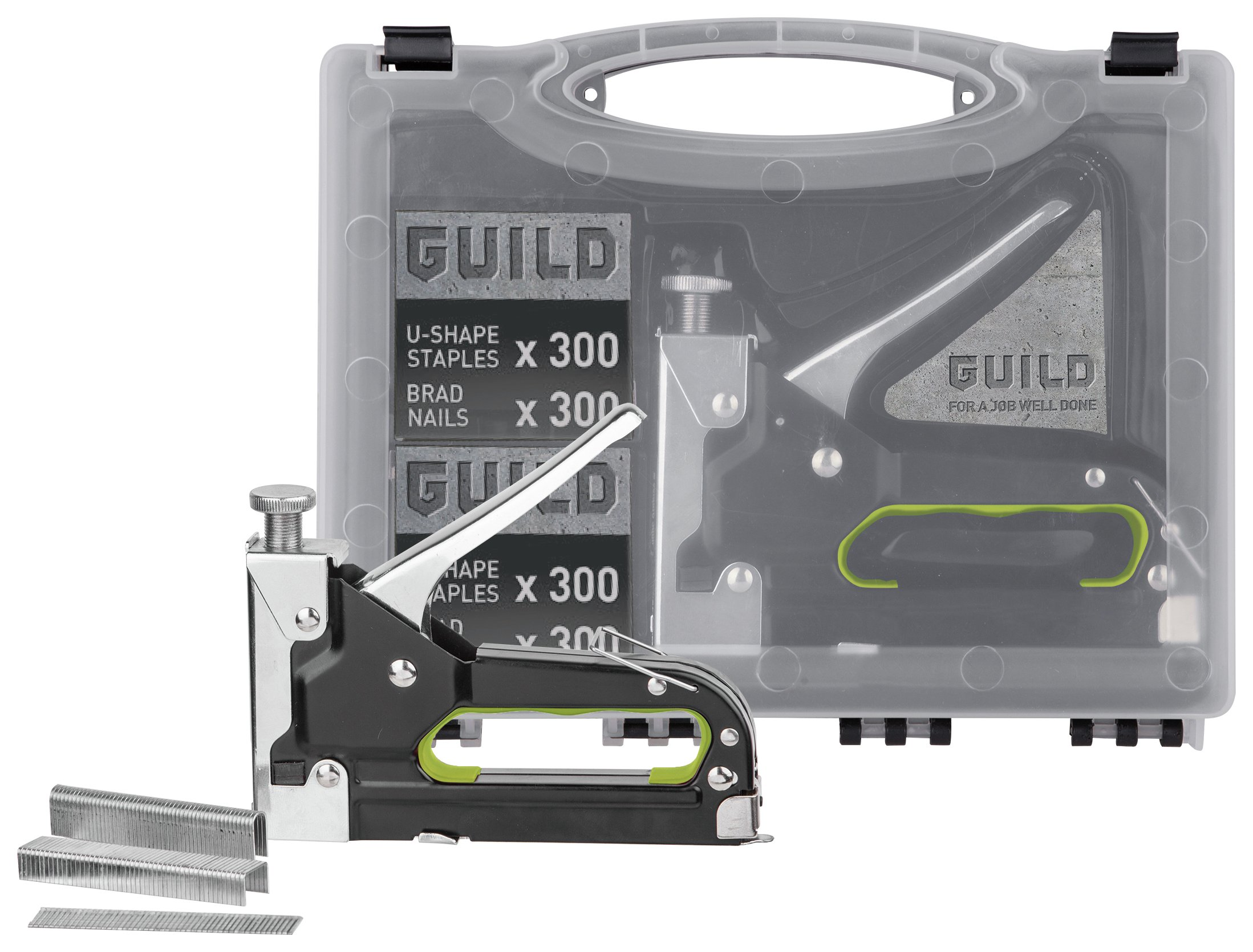 Guild 3-in-1 Manual Nail, Staple and U-Staple Gun