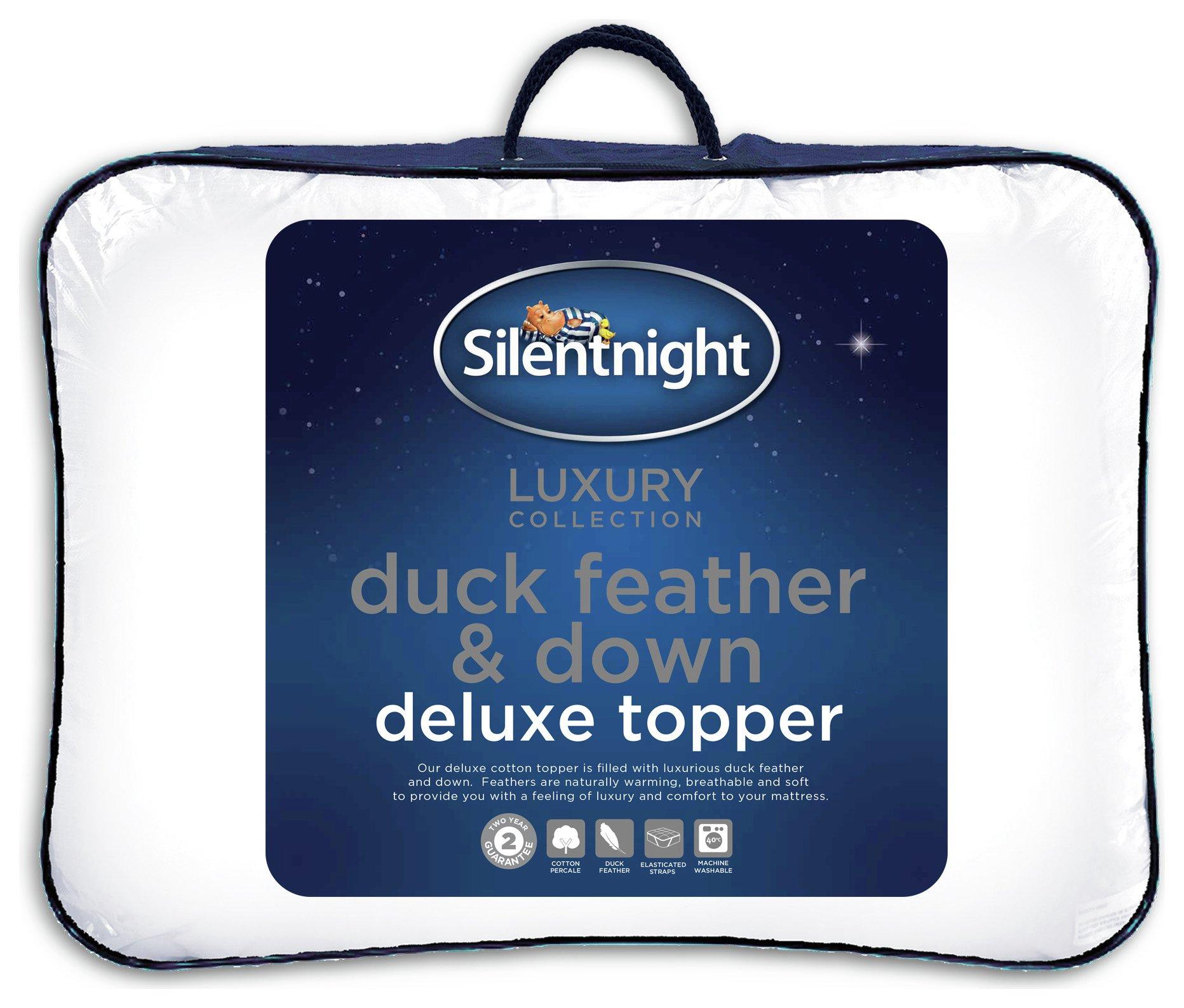 Silentnight Duck Feather Down Mattress Topper Double
