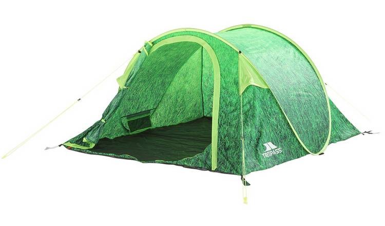 Buy Trespass 4 Man 1 Room Pop Up Tunnel Camping Festival Tent | Tents | Argos