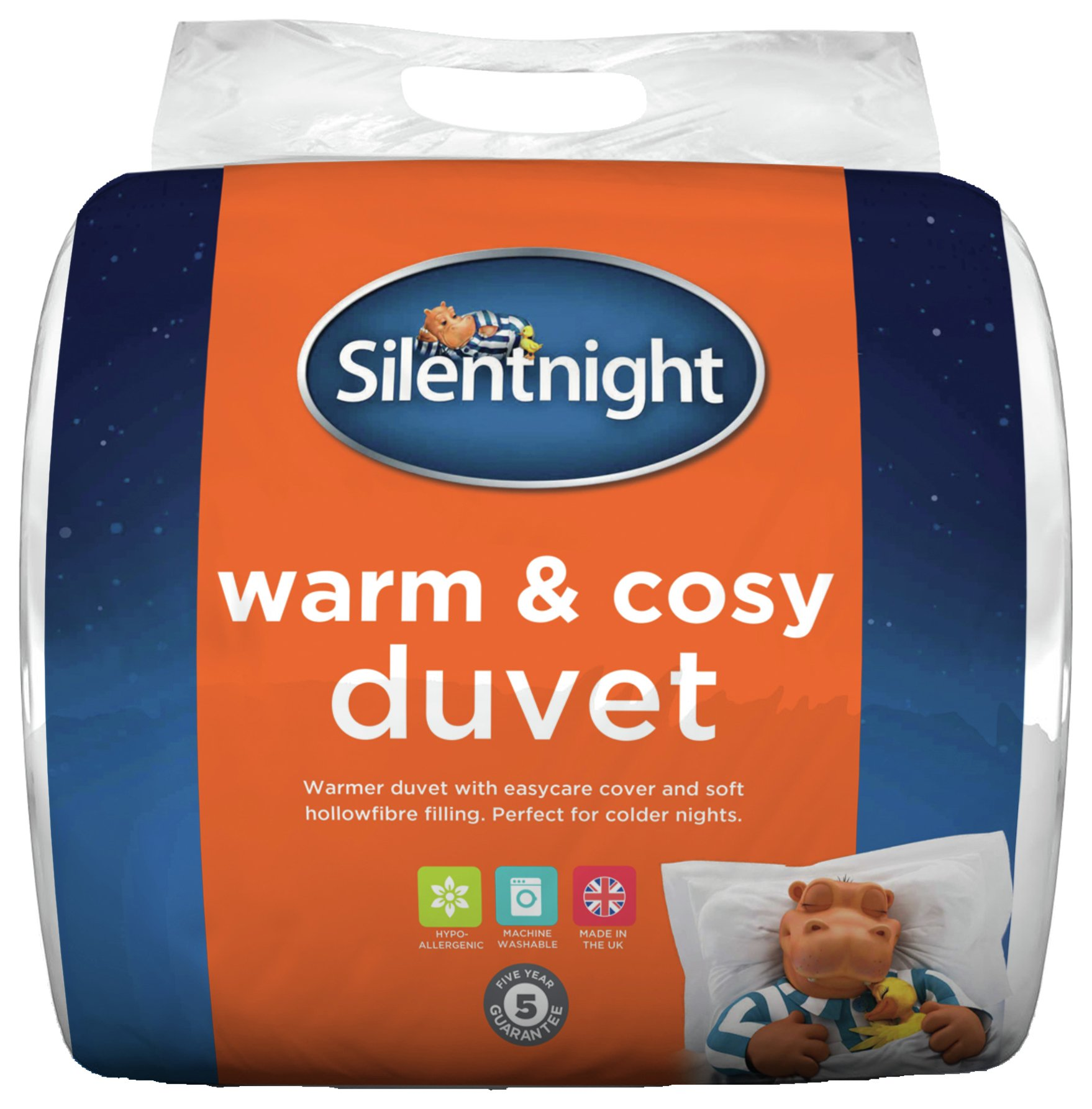 silentnight warm and cosy 15 tog duvet  double.