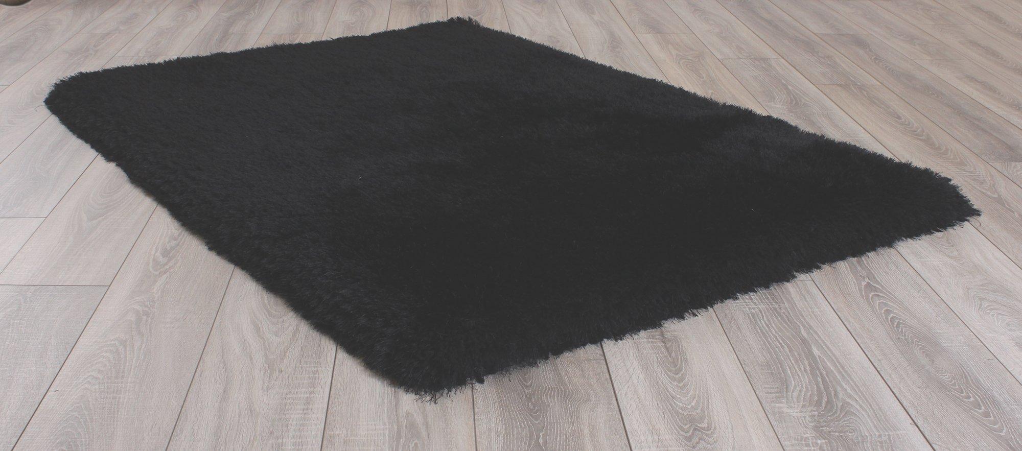 Image of Mayfair Shaggy Rug - 120x170cm - Black.