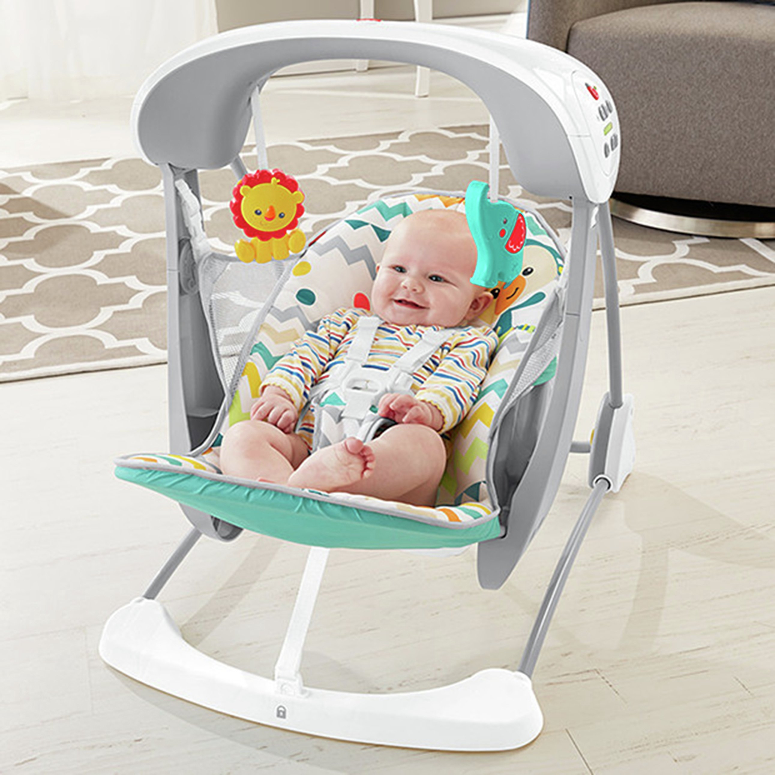 Image of Fisher-Price Colourful Carnival Take-Along Swing & Seat
