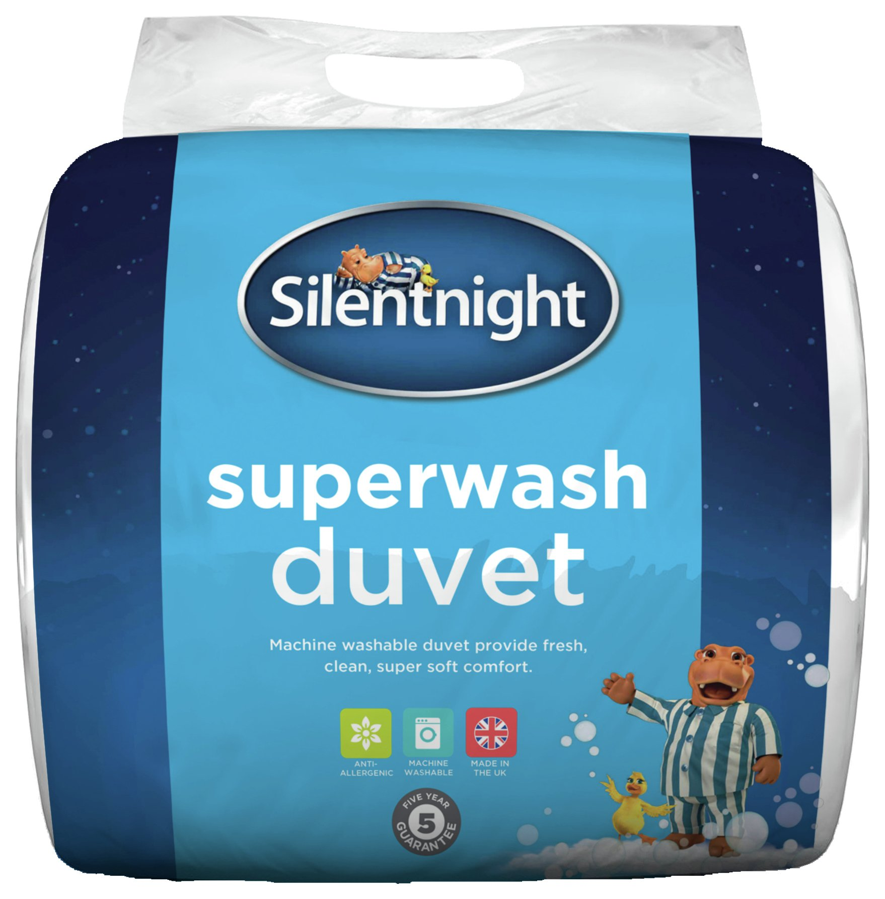 silentnight superwash 10.5 tog duvet  double.