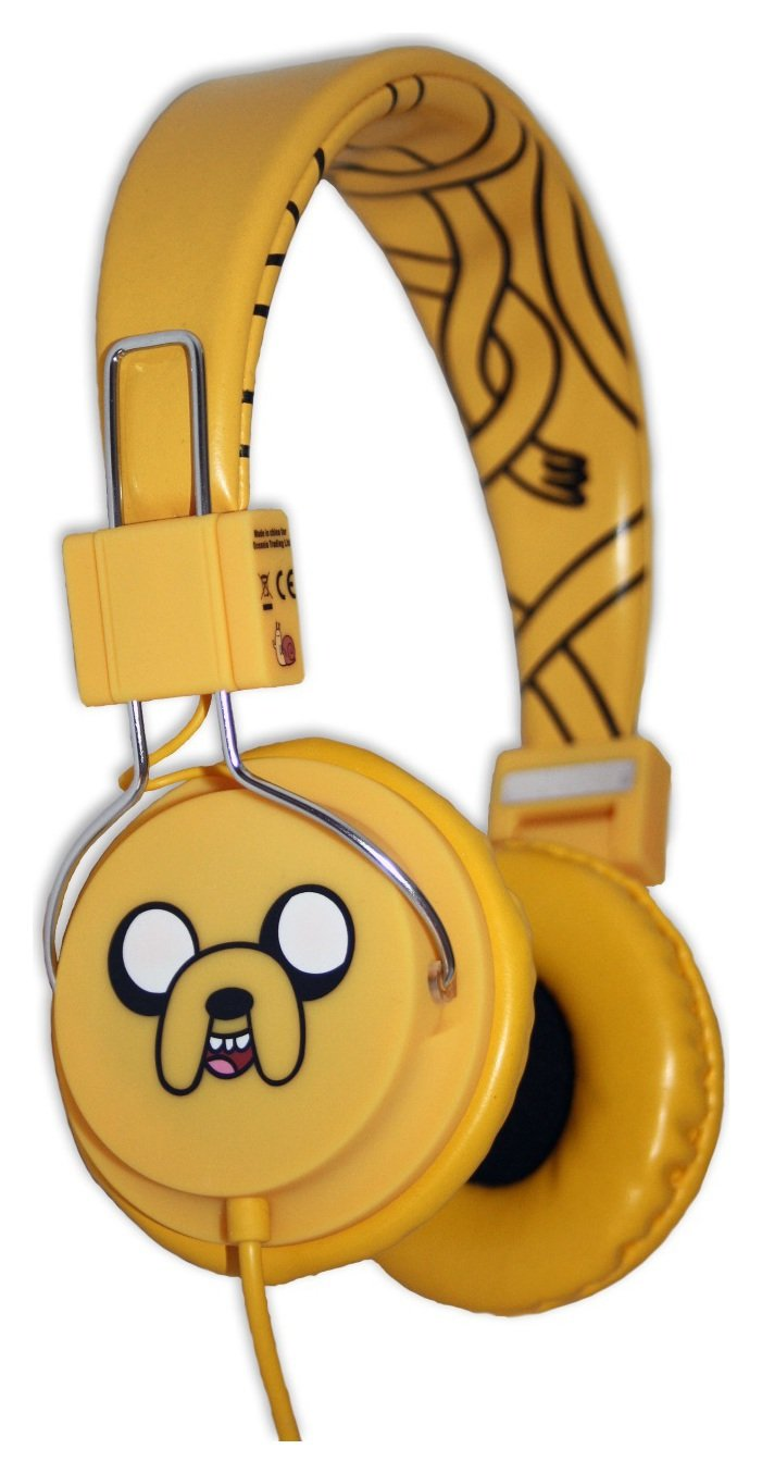 Image of Adventure Time Jake the Dog Kids On-Ear Headphones - Brown.