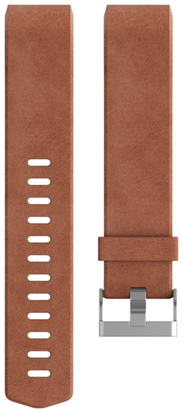 Image of Fitbit Charge 2 Brown Leather Accessory Band - Large