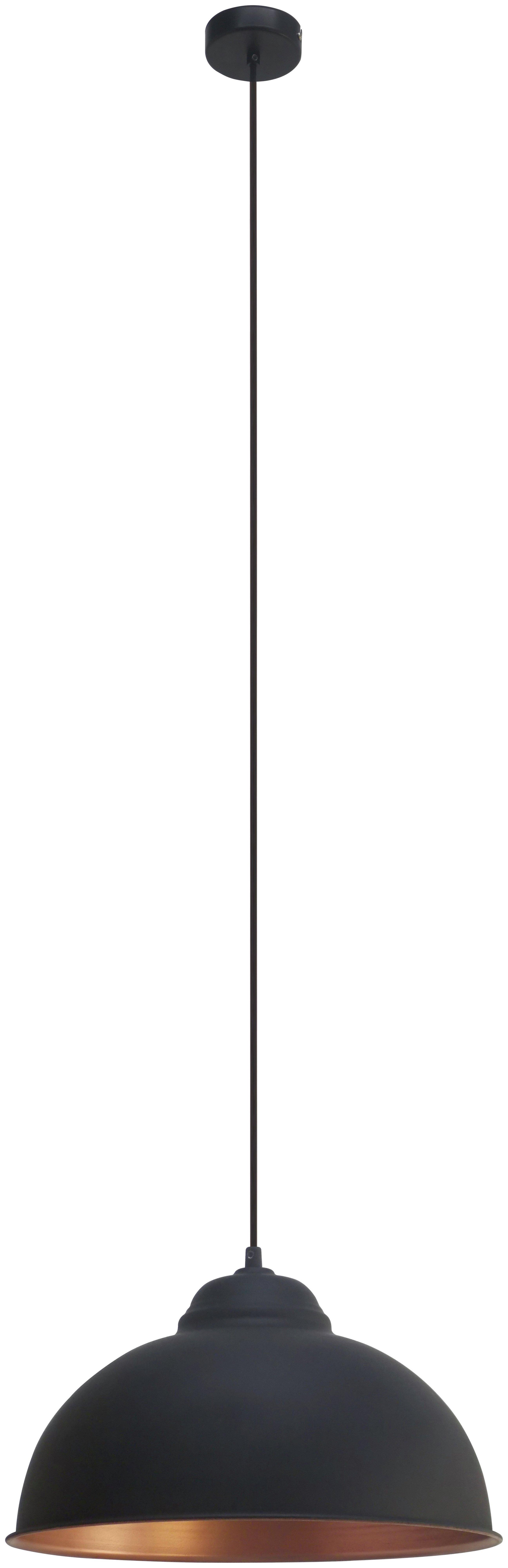 Image of Eglo Truro Pendant Light - Black and Copper.