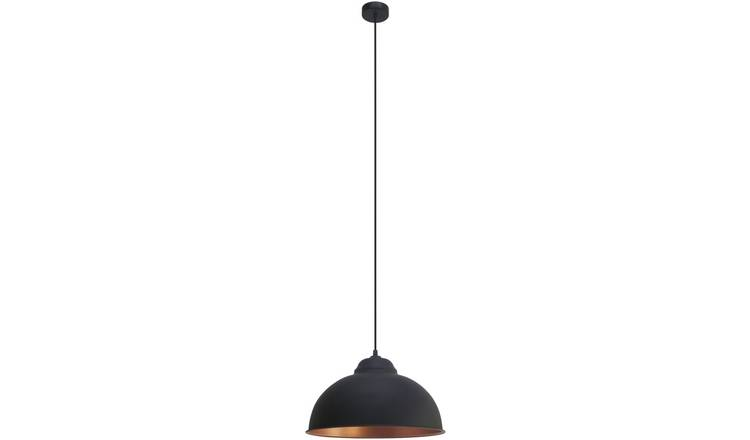 Eglo Truro Pendant Light - Black and Copper.