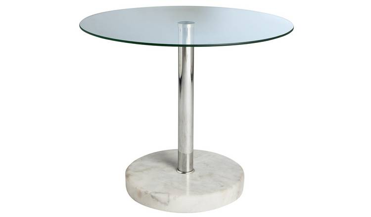 Buy Argos Home Round Glass And Marble Effect End Table Side Tables Argos