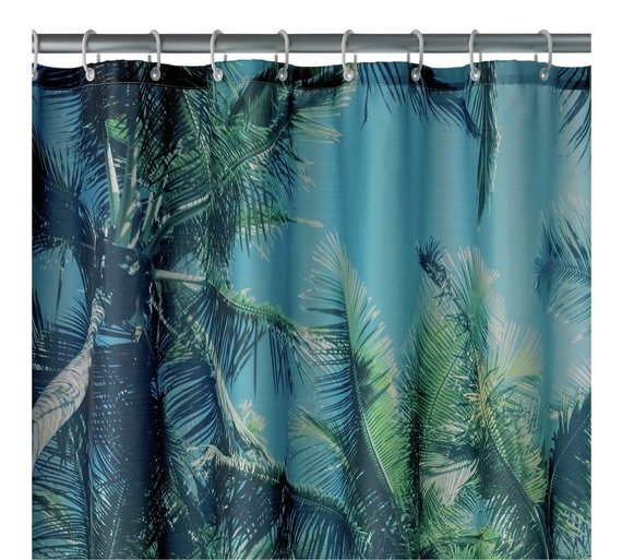 Argos Home Palm Trees Shower Curtain
