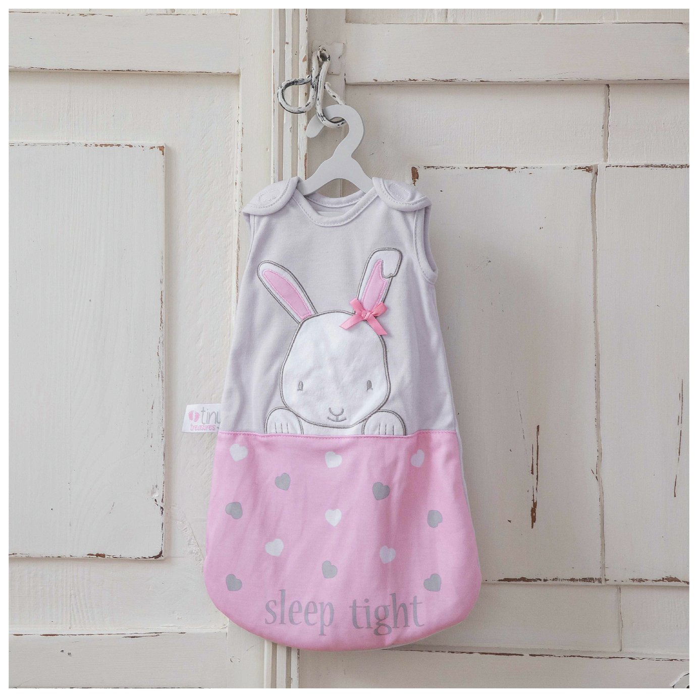 Image of Chad Valley Tiny Treasures Sleeping Bag & Bunny Comfort Toy