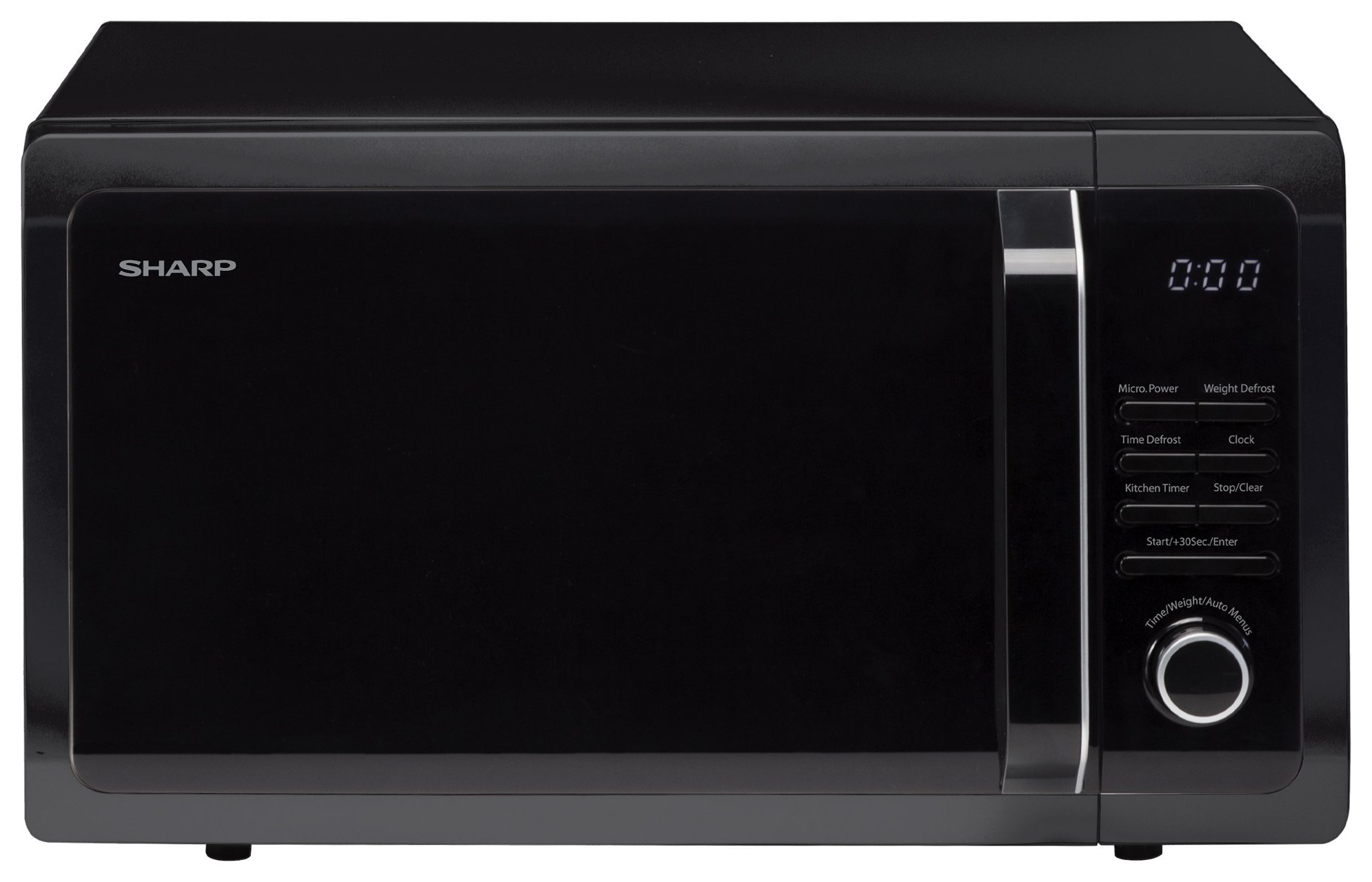 sharp r374km 900w microwave black. Black Bedroom Furniture Sets. Home Design Ideas