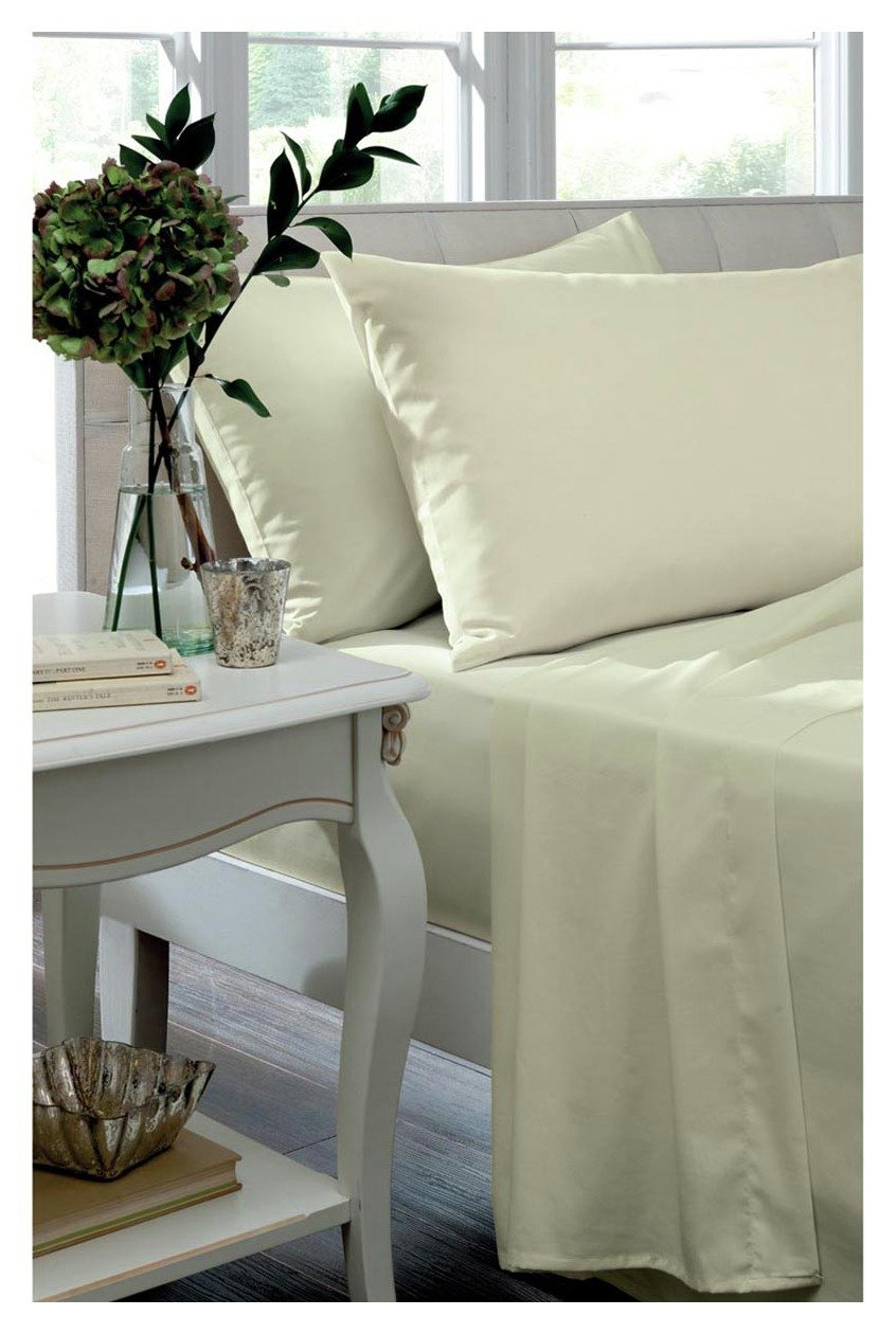 catherine lansfield housewife noniron pillowcases  cream