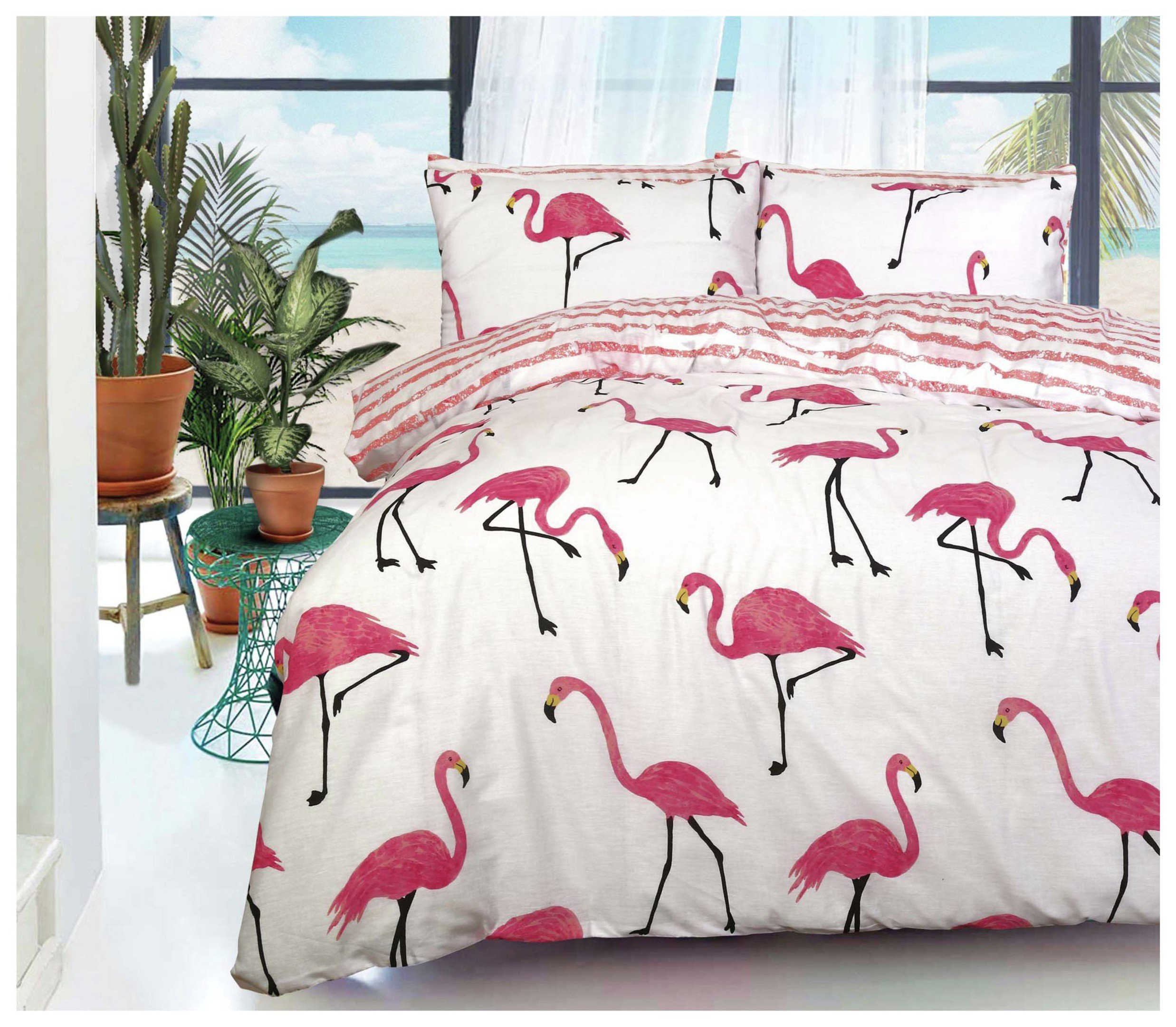 Pieridae Flamingo Bedding Set - Kingsize