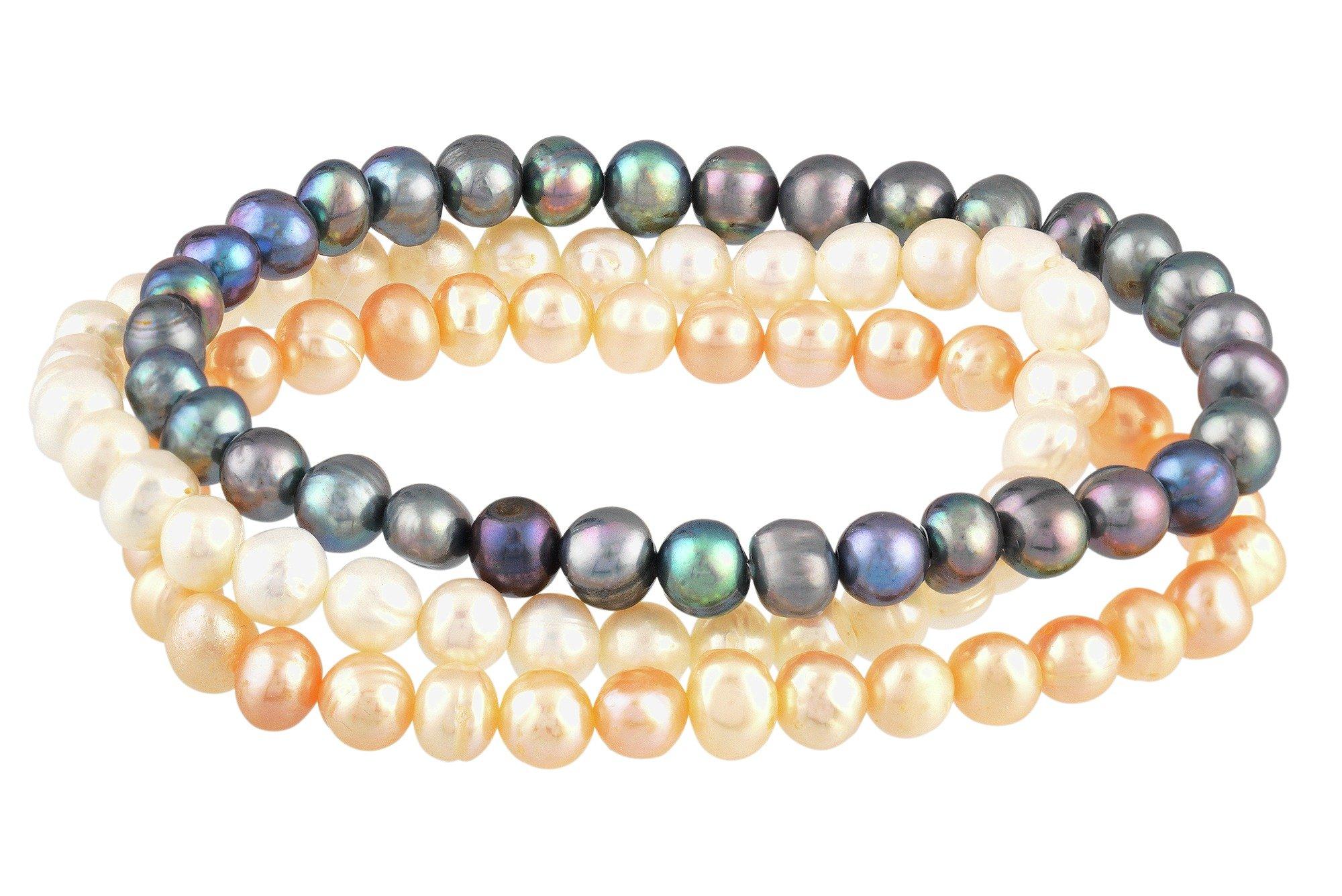 revere-freshwater-pearl-multicolour-bracelets-set-of-3