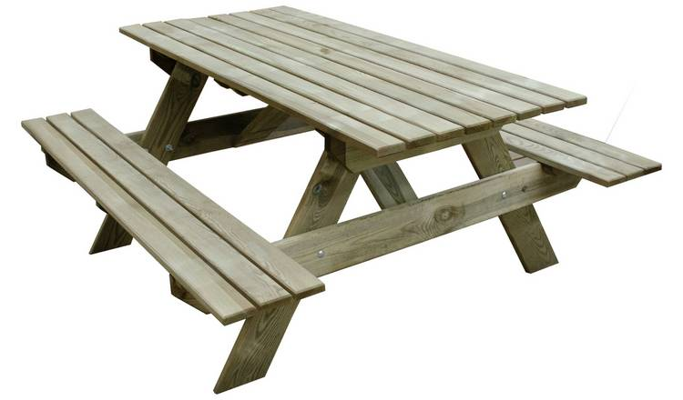 Forest Garden Rectangular 4 Person Picnic Table