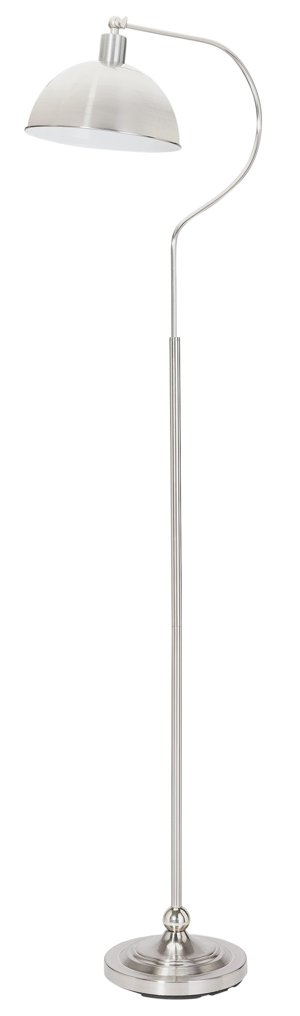 home coral curved floor lamp  satin nickel.