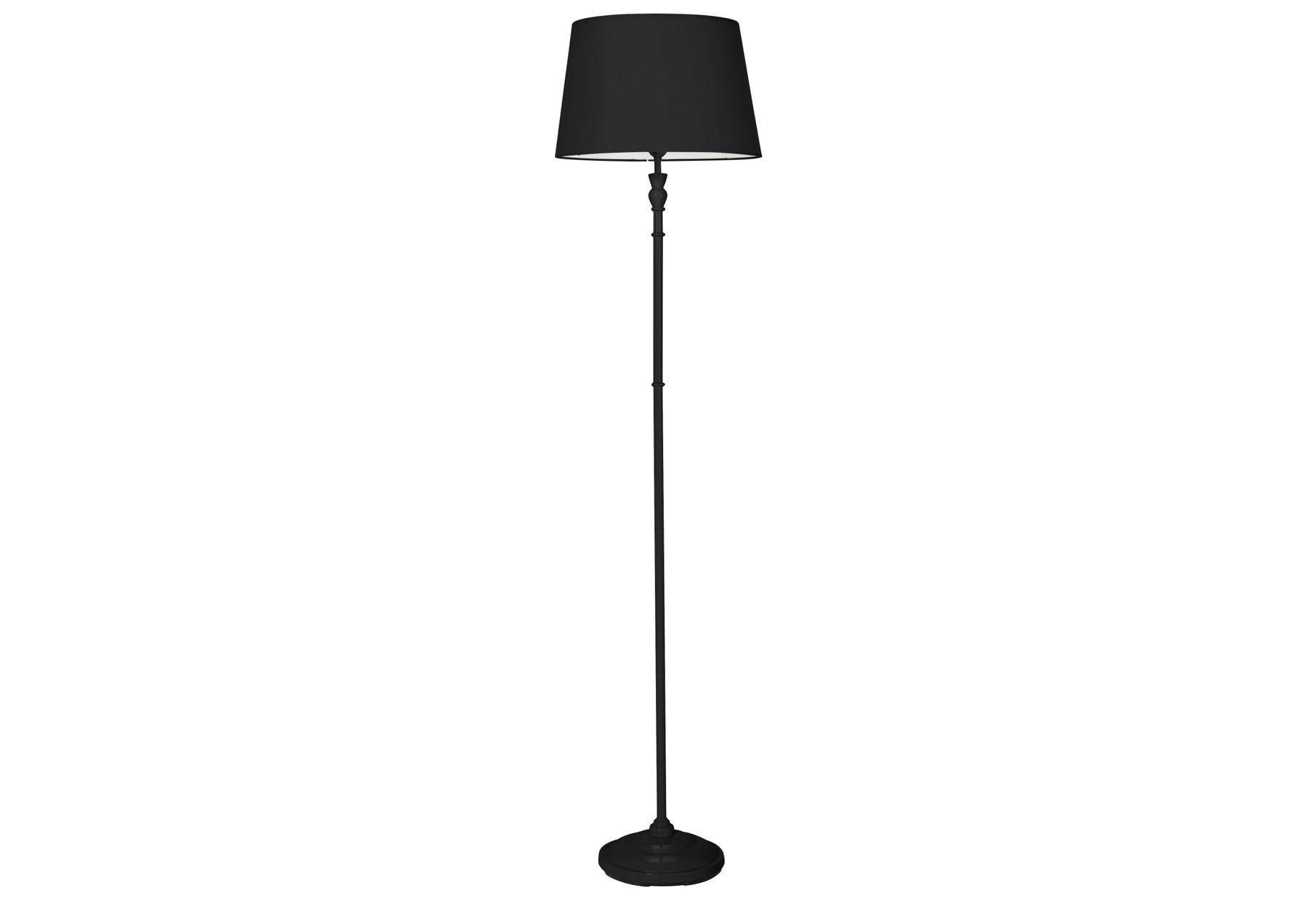 home thetford stick floor lamp  black.