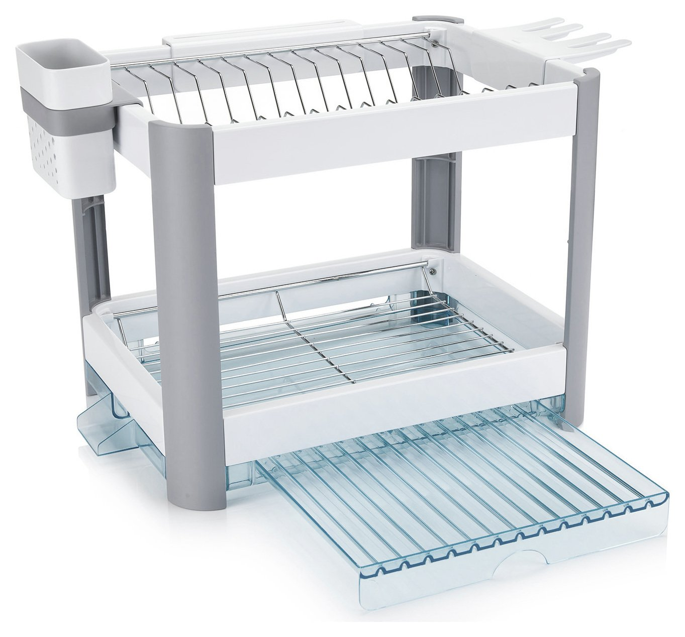 Minky Twin Tier Extending Dish Rack.