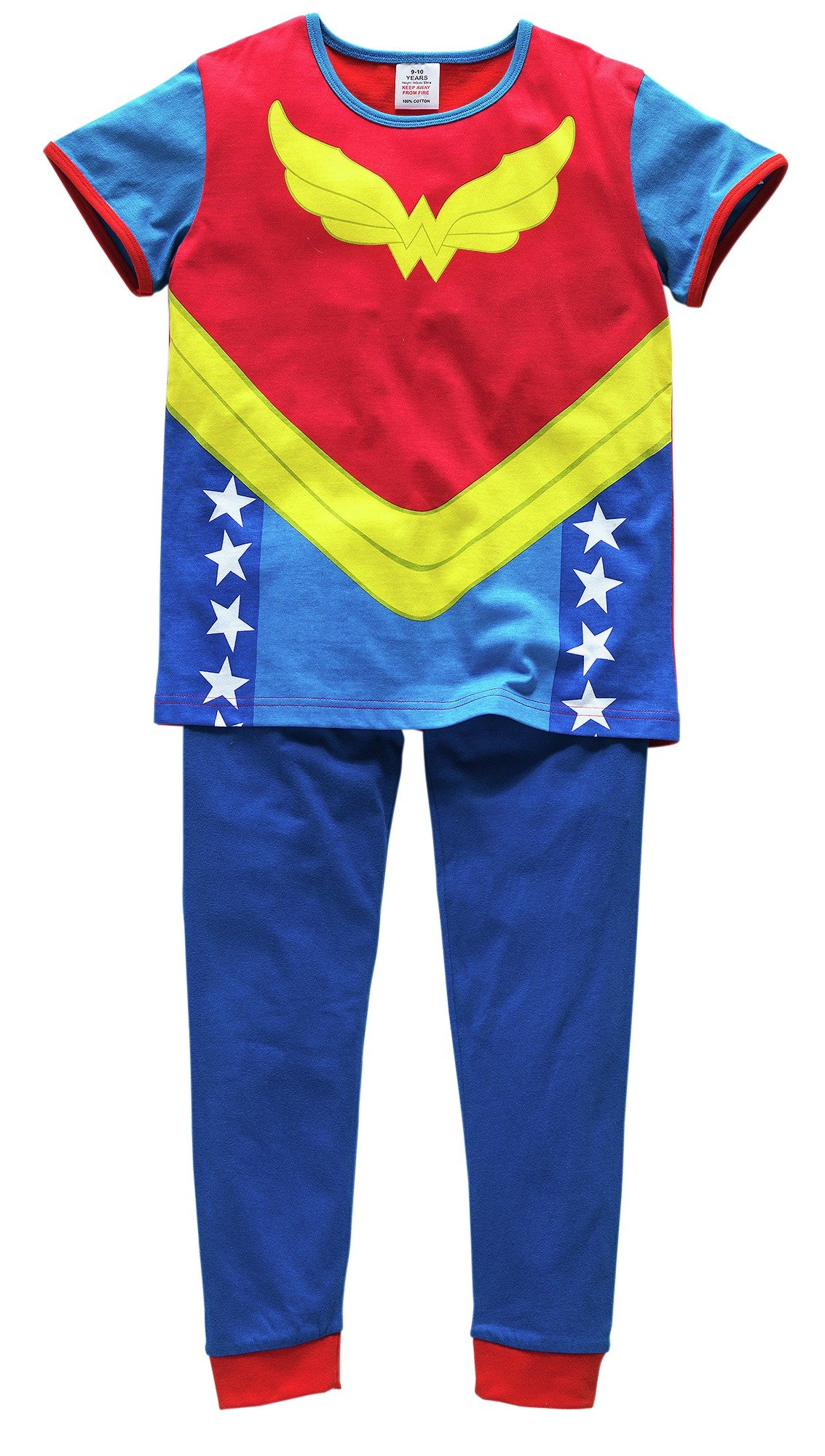 Image of DC - Girls Wonder Woman Cotton Pyjamas - 9-10 Years