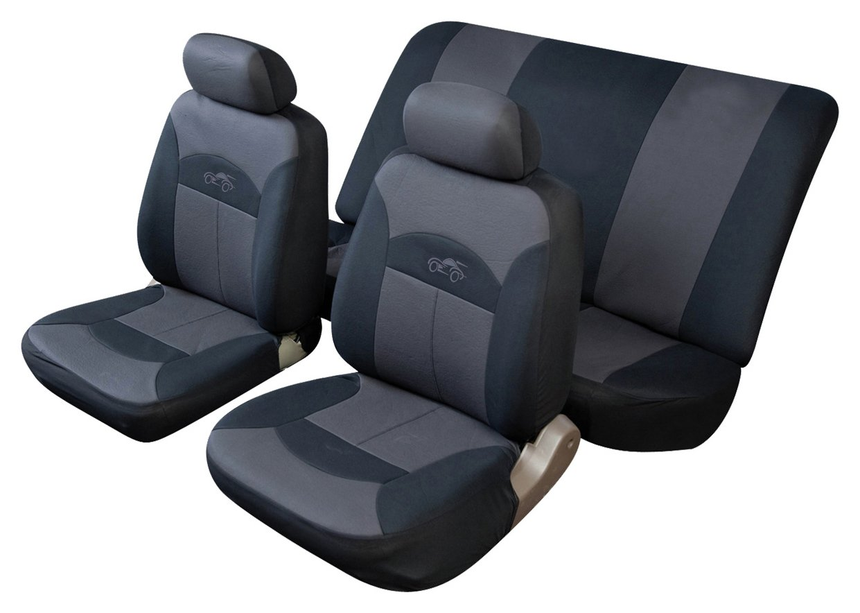 Image of Cosmos - Celsius Full Set Car Seat Covers - Black and Grey