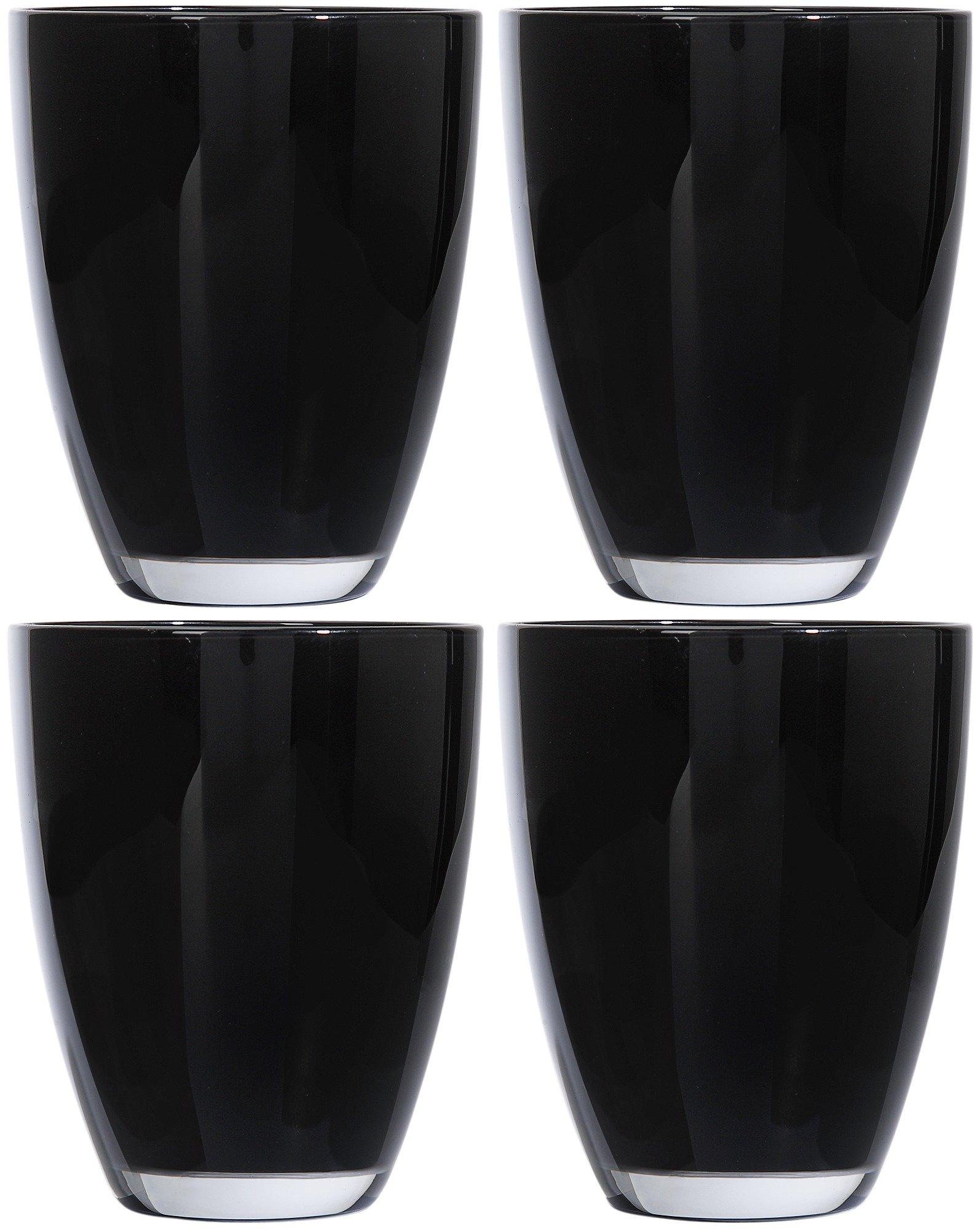 home-everyday-set-of-4-tumblers-black