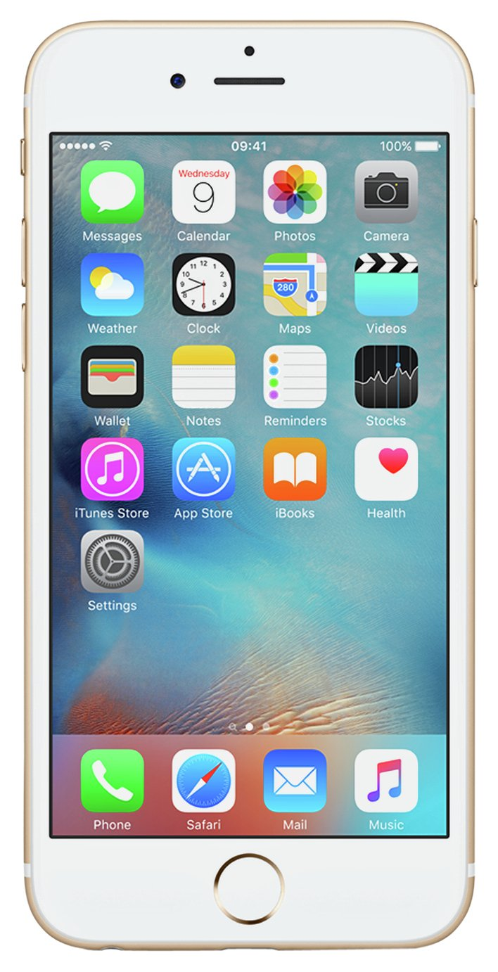 Sim Free Apple iPhone 6s 128GB Mobile Phone - Gold